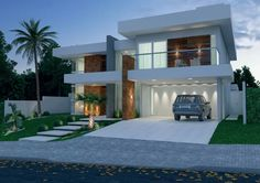 36 Best Ideas Home Architecture Styles Front Elevation Home Architecture Styles, Architecture Design, Facade Design, Residential Architecture, Exterior Design, Modern House Facades, Modern House Plans, Modern Buildings, Beautiful Buildings