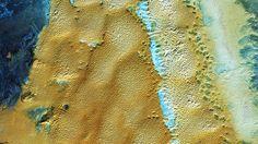 Vista aérea do Deserto do Saara, na Argélia - NASA