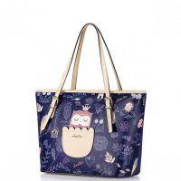 JUST STAR Modna damska torebka na ramię Niebieska