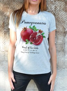 New SS/16 Pomegranate Screen Printed T-shirt / Fashion by Cotton9