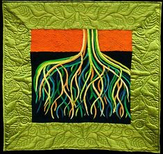"""The horticulturist in me likes this. """"Roots"""" by Linda Gass"""