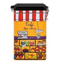 Derriere la Porte Opbergblik Koffie Boîte à Café Du Coin Orange