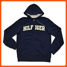 c494aff06f7 Tommy Hilfiger Mens Classic Full-Zip Fleece Hoodie (Navy , X-Small)