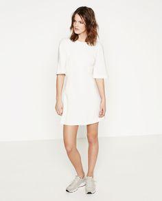 4178a9c0656 Zara white dresses size uk L Sleeve length Washing instructions  30 degree  wash