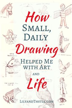 How My Daily Drawing Helped Me With Art and Life. Art Journaling is the best kind of journal. If you are a creative mom looking for inspiration or a bit of a drawing challenge, this is for you. Even if you are just a beginner! Just small, easy doodles in my sketchbook helped me with self-care and have created happy memories for me and my kids. #artjournal #momlife #sketchbook #artinspiration #artforkids #artformom #momtime #beginnerarttutorial #tutorial