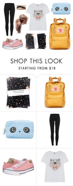 """Back to School"" by trsca on Polyvore featuring Nikki Strange, Fjällräven, Anya Hindmarch, Polo Ralph Lauren, Converse and Kenzo"