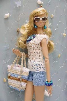 Luty Artes Crochet: Roupa de boneca