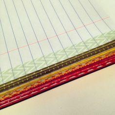 ノートの端にマスキングテープをデコレーション。