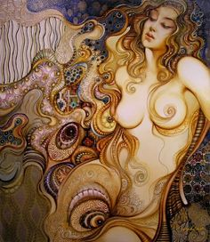 Highly decorative and sensual. Painting by Abraham Saakian
