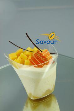 A delicious mango verrine from Savour School #verrines