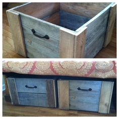 Pallet Wood Storage Bin. $35.00, via Etsy. Love these and it would be easy and cheaper to DIY!