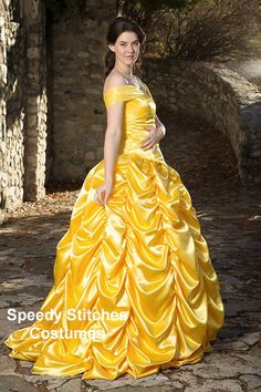 Adult Belle Princess Costume made in Gold washable satin. $275.00, via Etsy.  I NEED IT!!!!!!!!!!!!!!!!! @Stefanie W Hallmark Wilson