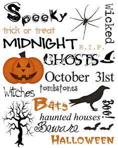 Love my Halloween subway art! Halloween Subway Art, Halloween Boo, Halloween Cards, Holidays Halloween, Happy Halloween, Halloween Decorations, Halloween Printable, Halloween Clipart, Halloween Ideas