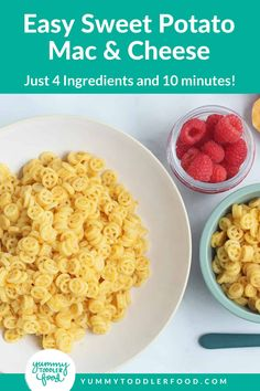 Easy Sweet Potato Mac and Cheese (5 Ingredients, 20 Minutes!)