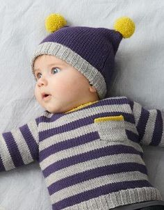 Navy, grey and yellow Baby Boy Knitting Patterns, Baby Cardigan Knitting Pattern, Knitting For Kids, Baby Patterns, Knitting Projects, Crochet Baby, Knit Crochet, Boys Sweaters, Baby Hats