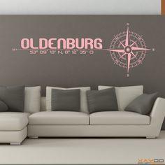 "Wandtattoo ""Stadt Oldenburg"" - ab 19,95 € | Xaydo Folientechnik"