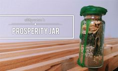 Hello, cuties! A new jar, a much needed jar today! We've got a prosperity jar on our hands, because who doesn't need some help in that area! I don't know anyone who doesn't! We've got a pretty simple...