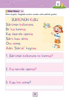 1. Sınıf Konu Anlatım SES FASİKÜLLERİ Learn Turkish, Learn English, Worksheets, Language, Classroom, Education, Learning, Books, Reading