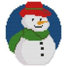 Ornament+Cowboy+Snowman+pattern+for+loom+or+square+by+GGsDesigns,+$4.00