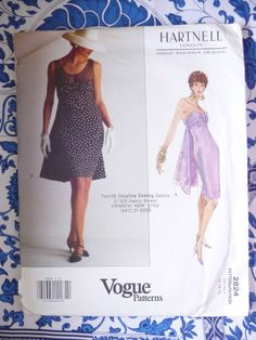 Vogue Pattern   2824       HARTNELL   -      Size:  12-14-16    -   Uncut