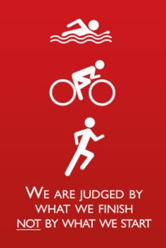Triathlon Motivational Quote Sports Poster Print Poster