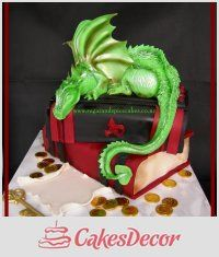 Jade Dragon - Guardian of Scrolls - Cake by Mel_SugarandSpiceCakes omg Allison will love this Cake Cookies, Cupcake Cakes, Cupcakes, Beautiful Cakes, Amazing Cakes, Fantasy Cake, Dragon Cakes, Book Cakes, Fairy Cakes