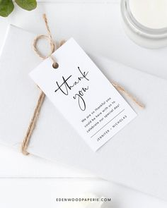 Minimalist Wedding Favor Tag Template  Purchase, personalize, and print within minutes! Edit using the Templett app in your computer browser – no additional software needed! Please try demo and seek clarification before purchasing the template. FREE DEMO ━━━━━━