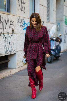 Milan SS 2018 Street Style: Christine Centenera