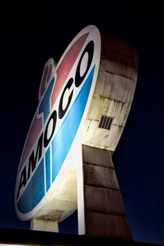 Just blocks away from Tesseract, the Giant Amoco sign at intersection of Clayton and Skinker, St. Louis