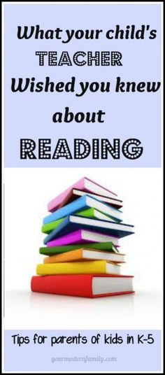 Great resource for parents to know what to do with reading at home!