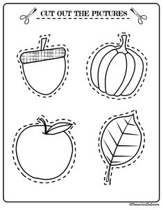 Free printable fall activities for preschool - fun activities for fine motor skills, counting, scissor skills and more. #prek #preschool #fall