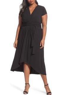 cfd715a02f Free shipping and returns on MICHAEL Michael Kors High Low Faux Wrap Maxi  Dress (Plus Size) at Nordstrom.com. Elegantly gathered panels with knotted  ties ...