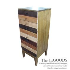 Rustic Chest of Drawers - Rustic Furniture in Pop Art Style.  We produce & supply #rusticfurniture style #farmhousefurniture style made of teak & mindi wood. Best traditional handmade construction with high quality artisan made at affordable price. http://jeparagoods.com