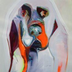 "Saatchi Online Artist: Patricia Derks; Oil, 2012, Painting ""dog"""