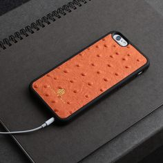 Welcome to our store Leather cell phone case shell skin cover for iphone 6 with gift package dropshipping service Item Description :Brand: HiramBeronColor: OrangeMaterial: Ostrich print cow leather Structure: 1 housing for iphoneSize: For iphone 6/6sPacking: Unit in a cloth bag1. Any incidental marks, tonal changes and/or textual variances in the leather should not be ...