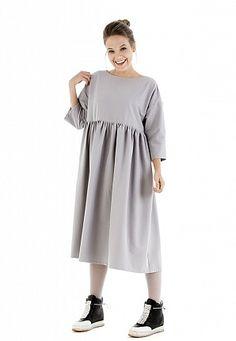 Платье  Long Suok серое