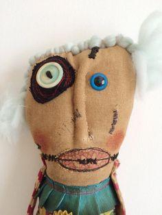 Ooak Original Handmade Art Doll Folk Art Quirky by dollyzemomma