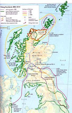 Vikings in Scotland, 800-1014