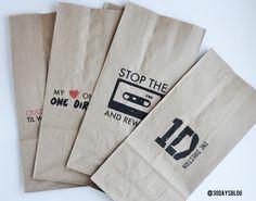 One Direction Bags www.thirtyhandmadedays.com - like the idea -- not the subject.