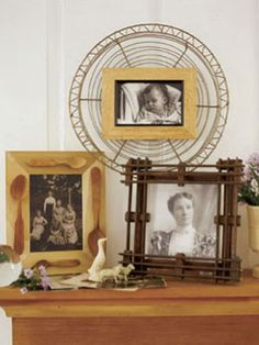 From tableware to toys, almost anything can be glued onto an ordinary #frame to create whimsical wall #art and give your #home a #vintage flare. #decor