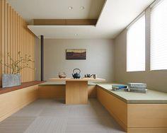 Modern Japanese Interior, Japanese Modern, Dining Area, Dining Table, House Rooms, Space Saving, Corner Desk, Kitchen Design, Window Seats