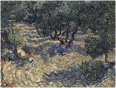Olive Grove by Vincent Van Gogh Painting, Oil on Canvas  Saint-Rémy: June, 1889