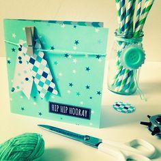 Hip hip hooray! #diy #card #birthday met papier van @101woonideeen #paperfuel