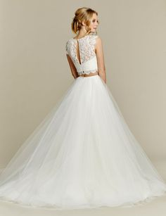 Blush by Hayley Paige Sunny 1553 Two-Piece Ball Gown Wedding Dress