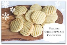 Almond flour and butter Christmas cookies  gf wheat free