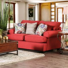 Tuscan Transitional Premium Loveseat by Furniture of America