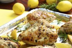 Roasted Chicken Breasts with Lemon, Garlic and Rosemary -Who needs rotisserie chicken with these amazing, super simple roasted chicken breasts? I love to serve them for dinner but they're also wonderful to have stashed in the fridge for sandwiches, salads, pizzas, wraps, etc.