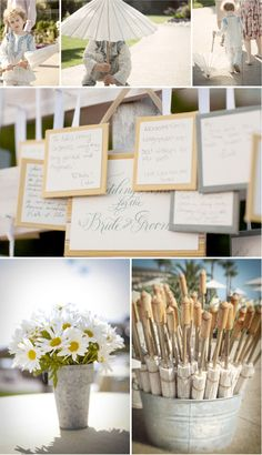 natural Wedding Decoration Ideas -close pin your wishes on a close line
