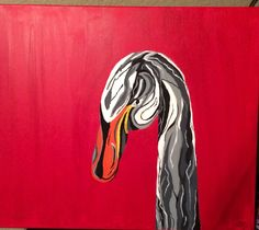 Bill's birthday present!! Goose done with acrylics!! Finally fished it!!!
