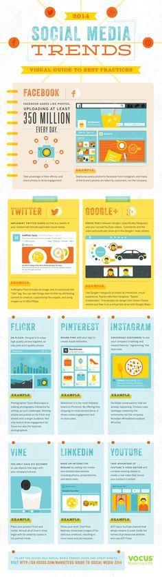 Social media trends voor 2014 - #infographic #SocialMedia #Facebook #Twitter #GooglePlus #LinkedIn #Pinterest